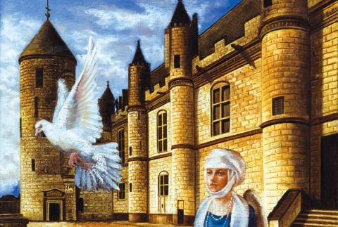 Героиня Дюма, провожающая почтового голубя