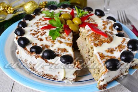 Печеночный пирог с рисом - р…