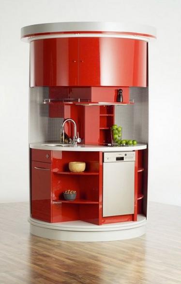 Полноценная кухня на одном квадратном метре