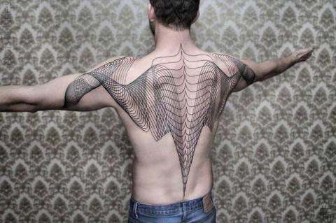 Геометрические татуировки Хаима Махлева
