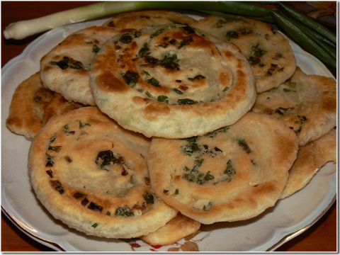 Узбекские луковые лепeшки
