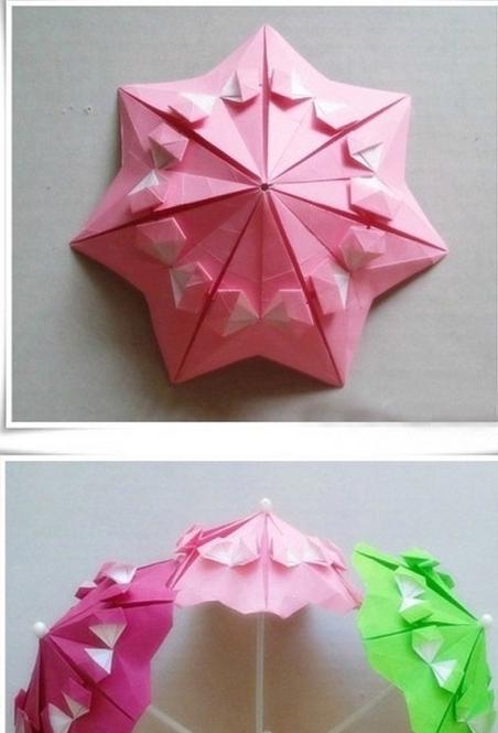 Бумажные зонтики в технике оригами