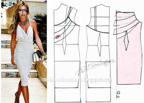 Простые выкройки нарядных платьев