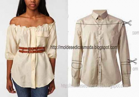 Сшить для себя атласную блузку фото 43