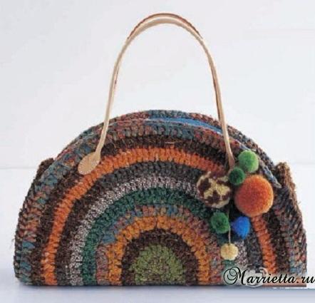 Схема вязания крючком овального коврика и сумочки