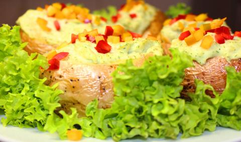 Картошка запеченная с авокадо