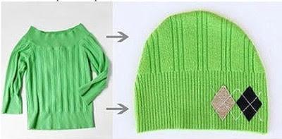 Шапочка из старого свитера