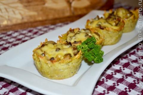 Грибная закуска в картофельн…
