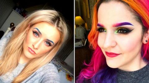Мода не стоит на месте: Яркие цветные брови как главный акцент на лице