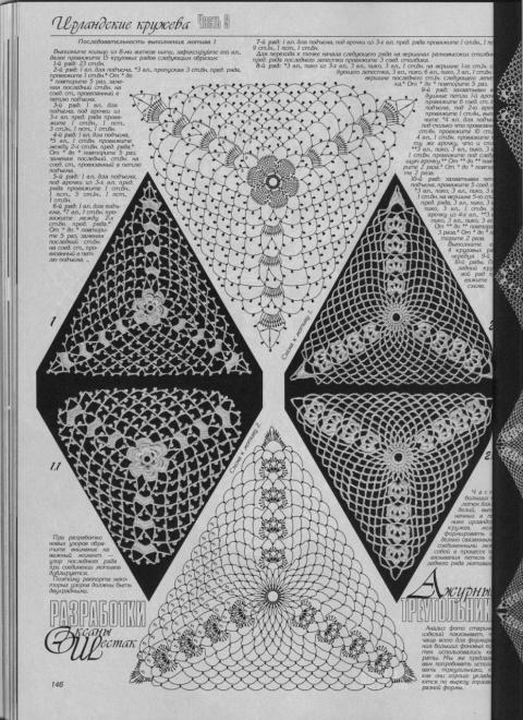 Мотивы крючком для идеи и вдохновения(треугольники)серия третья.