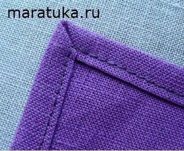 Как красиво обработать срезы ткани под прямым углом