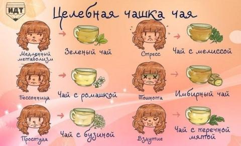 Целебная чашка чая для вашего здоровья