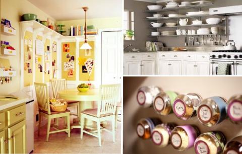 10 неожиданных  мест хранения для маленьких кухонь