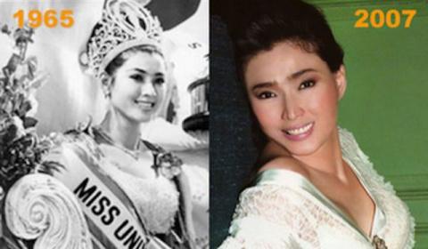 """""""Мисс вселенная 1965"""", которая совсем не постарела за прошедшие годы -  Апасра Хонгсакула"""