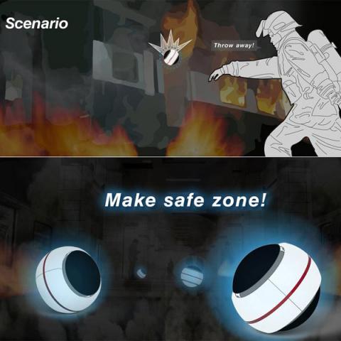 В случае пожара использовать шар