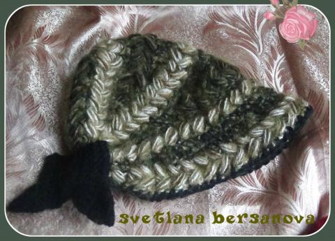 Вяжем крючком шляпку-капор