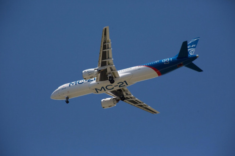 Самолет МС-21-300 совершил б…