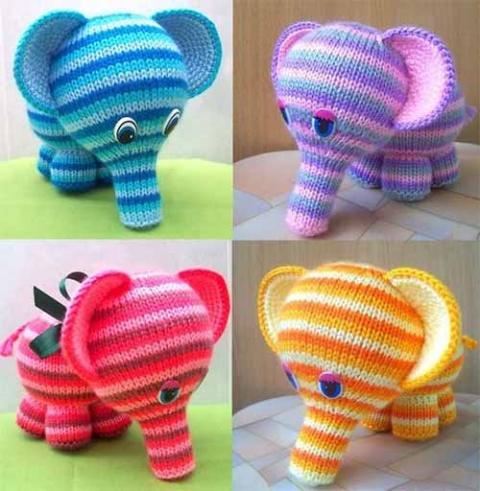 слоненок спицами