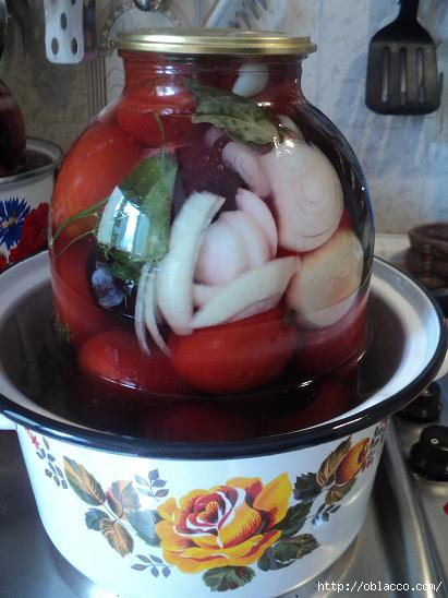 помидоры маринованные со сливами рецепт на 1 литр