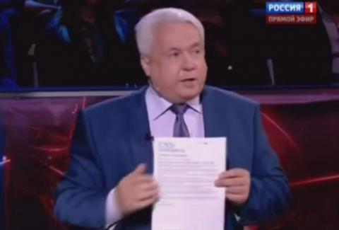 Украинский политолог Ковтун в эфире шоу Соловьева получил удар в лицо