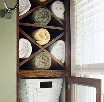 Домик для полотенца: простые способы хранения в ванной комнате