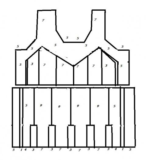 Сарафан-трансформер спицами (идея для вязания)