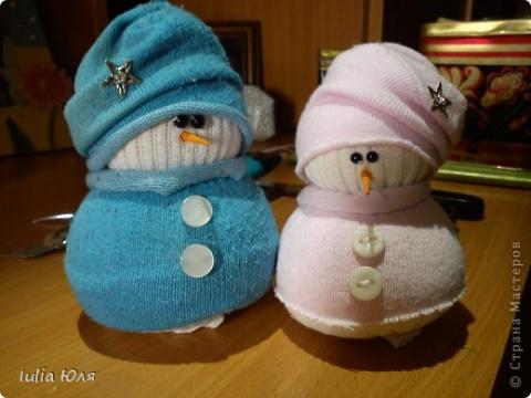 САМОДЕЛКИ. Снеговики из носков