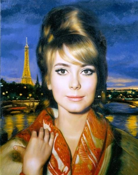 Ночная красавица на фоне Парижа или Катрин Денев в образе