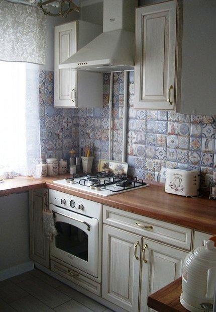 Кухня: прованс на 6 квадратн…