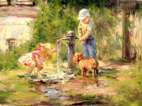 Солнечное детство в картинах Николая Соник