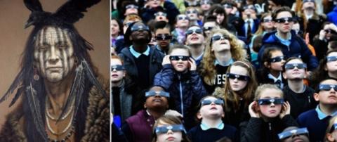 Шаманы Навахо предупредили: человек не должен смотреть на «черное» солнце