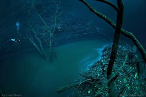 Дайвер обнаружил реку… под водой