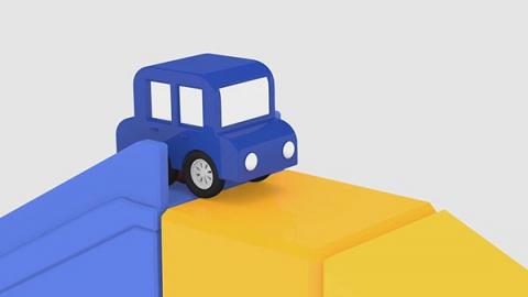 Lehrreicher Zeichentrickfilm Die 4 Kleinen Autos Spaß Auf Der