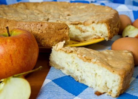 Десертный вихрь. Яблочный пирог на кефире