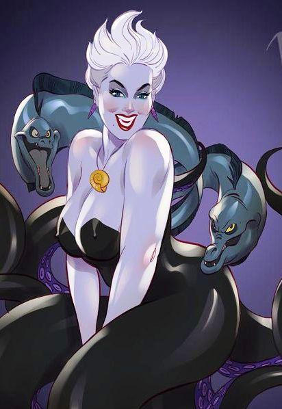 Злодейки Диснея в сексуальных пинап-образах. Очень даже ничего себе красотки получились, правда?