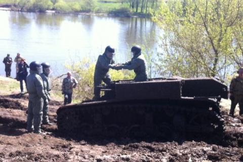 Под Воронежем подняли американский танк