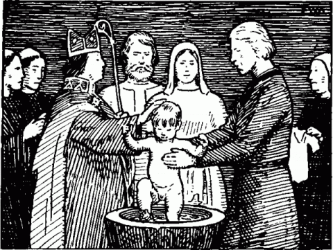 Крещение Олава Харальдссона.