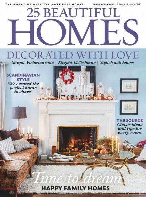 25 Beautiful Homes – January 2016 (декор дома)