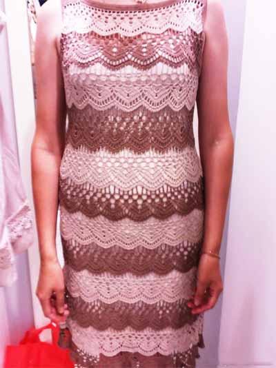 Впечатляющее платье крючком «Latte palette»