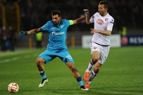 «Зенит» победил «Торино» в первом матче 1/8 финала Лиги Европы