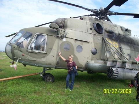 август 2009 г. Занятия в вертолётном полку с Каскадом