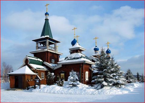 Золотые маковки церквей!