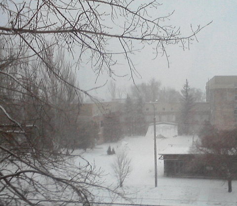Донецк – зима, холода...