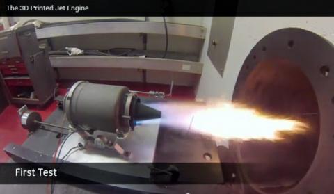 General Electric напечатала на 3D-принтере миниатюрный реактивный двигатель