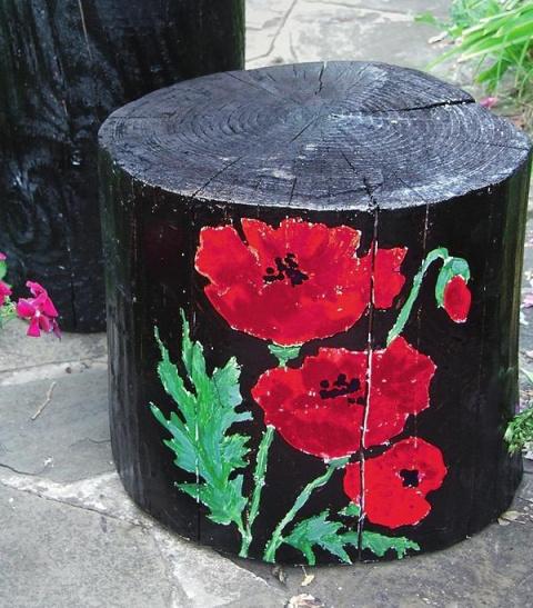 Садовая мебель из пней своими руками