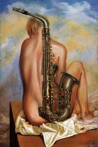 Девушка- саксофон