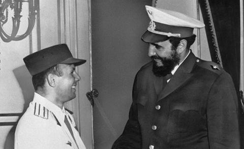 Фидель Кастро и Юрий Гагарин…