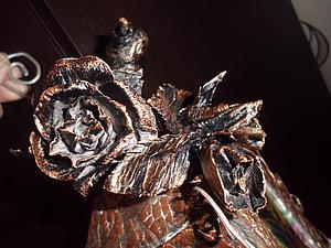 Делаем «кованую» розу из бумаги