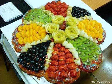 Красивая подача фруктов к столу
