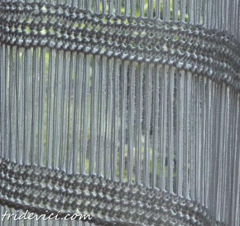 Эффектная и простая штора крючком